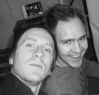 Andreas Tärnvind har skrivit texterna och rappar på alla låtar. Magnus Boqvist har ansvarat för musiken och spelat in allt i sin studio. - magnusochandreas3